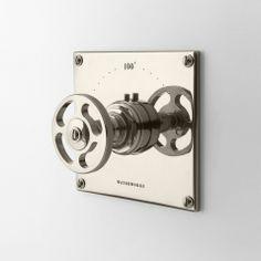 R.W. Atlas R.W. Atlas Thermostatic Control Valve Trim with Metal Wheel Handle (www.waterworks.com)