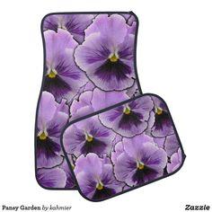 Pansy Garden Car Mat Car Mats, Pansies, Keep It Cleaner, Initials, Garden, Design, Garten, Gardens, Tuin