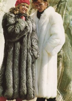 Retro Fox Fur Coats