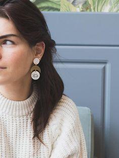 LUNA Oriental Statement earrings by Malaforma