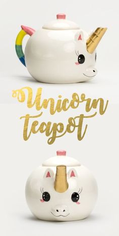 Surely tea will taste even sweeter when it's from a Unicorn Teapot!!