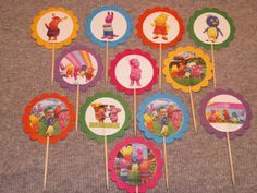 12 Backyardigans Cupcake Picks by ThePookieShop on Etsy, $5.00/ i think i can make these