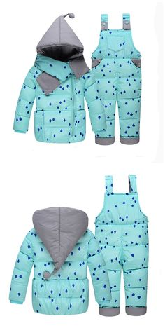 Baby Girl Winter Down Clothing Sets Winter Dot Print Hooded Newborn Infant Bebes Snow Outwear Coat +Overalls Pants+Scarf 4