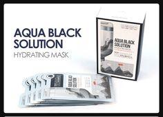 THE H ONE Aqua Black Solution Hydrating Mask 30ml*10ea Charcoal Sebum Control #THEHONE