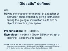 Didactic Defined   Google Search