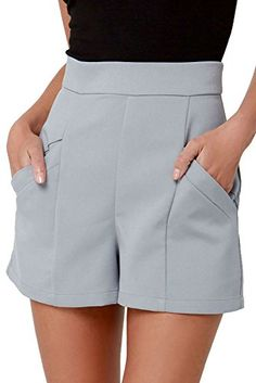 BB Dakota Womens Bryan High-Waisted Shorts, Dove Grey ** Learn more by visiting the image link. BB Dakota Womens Bryan High-Waisted Shorts, Dove Grey ** Learn more by visiting the image link. High Waisted Shorts, Casual Shorts, Grey Shorts, Sailor Shorts, Summer Outfits, Cute Outfits, 1940s Fashion, Skirt Pants, Long Pants