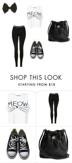 """Cute back to school outfit #4"" by gymgirl900 on Polyvore featuring Miss Selfridge, Topshop and Converse"