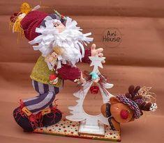 Christmas Clay, Christmas Fabric, Christmas Time, Xmas, Christmas Ornaments, Felt Wreath, Burlap Wreath, Holiday Time, Fabric Decor