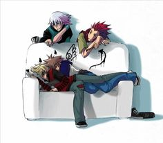 Kingdom Hearts - Riku x Sora & Roxas x Axel >> This is so cute, I think I might die from all the cuteness
