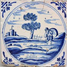London delft tile, circa 1760 More stock available at www.martynedgell.com or follow us at www.facebook.com/martynedgellantiques