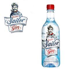 Good Ol' Sailor Brand's Bottle Designs New Gin.