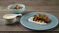 Αρνίσιο μπούτι ρολό με σαλάτα από ρεβύθια Beef, Cooking, Food, Meat, Kitchen, Essen, Meals, Yemek, Brewing