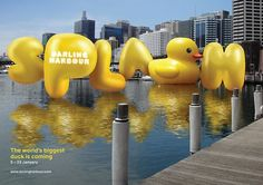 Darling Harbour Creates a Balloon-Style Font for its Re-Branding #art trendhunter.com