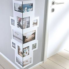 Empty boring corners in your hallway? Great way to decorate them!