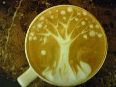 Genesis Tree Coffee Art Design // Creative 3D Coffee Latte Art Pictures, Images & Designs