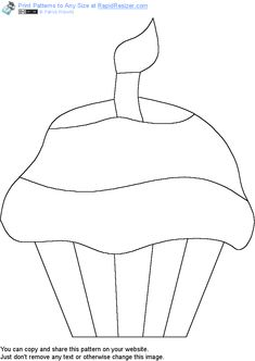 Free Cupcake pattern. Get it and more free designs at http://Online.RapidResizer.com/patterns.php