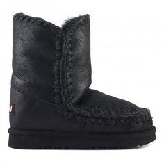 mou eskimo boots cracked black/grey #mou #shoes #fashion #christmas #lifestyle