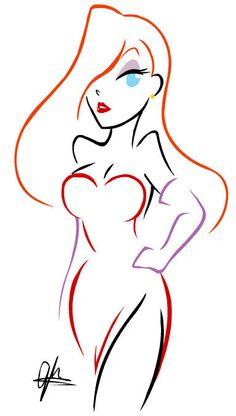 Jessica Rabbit Tattoo, Jessica And Roger Rabbit, Jessica Rabit, Disney Drawings, Cartoon Drawings, Cartoon Art, Art Drawings, Bd Pop Art, Rabbit Tattoos