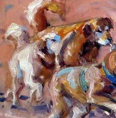 Via Susan Renee Lammers:November 7, 2014 Today I Painted Dogs Running Along The Beach! | Plein Aire in Maine