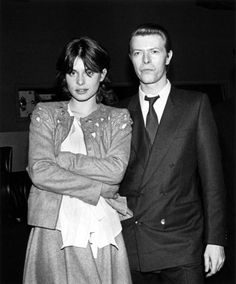David Bowie and Nastassja Kinski at a screening of the film Cat People by Ebet Roberts/Redferns, 1982