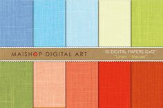 Check out Digital Papers-Linen-Macaw by Maishop Digital Art on Creative Market