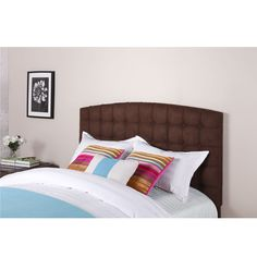 Dorel Home Furnishings Torino Tufted Headboard, Multiple Colors and Sizes, Beige