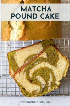 Baking Recipes, Cake Recipes, Dessert Recipes, Baking Ideas, Desserts, Matcha Ice Cream, Cream Tea, Marble Pound Cakes, Soy Latte
