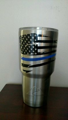 Check out this item in my Etsy shop https://www.etsy.com/listing/467013527/thin-blue-line-tattered-flag-ozark-trail