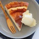 tarta de queso al horno sin azucar