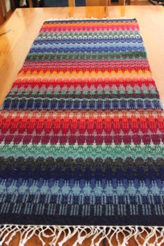 Handwoven table runner.