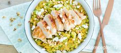 Stamppotje van zoete aardappel en broccoli Skinny Recipes, Healthy Recipes, Good Food, Yummy Food, Cobb Salad, Food To Make, Chicken Recipes, Dinner Recipes, Favorite Recipes