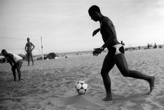 Footvolley - mix of volleyball and football. Born on Rio de Janeiro beaches!