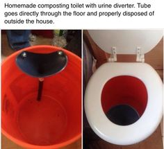 Composting 13 DIY Composting Toilet Ideas to Make Going Off-Grid Easier - To pick the right DIY composting toilet for you, consider your building skills, budget, and which of our ideas would be the most feasible for you. Outdoor Bathrooms, Outdoor Baths, Compost Toilet Diy, Outdoor Toilet, Portable Toilet, Diy Camper, Camper Van, Toilet Design, Off Grid Cabin
