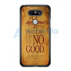 Harry Potter Quote I Solemnly Swear That I Am Up To No Good Black LG G5 Case | armeyla.com
