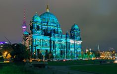 Berlin's Festival of Lights drastically changes the built landscape of the city by night.