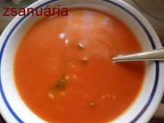 Zsanuária: paradicsomleves Soups And Stews, Thai Red Curry, Cantaloupe, Fruit, Ethnic Recipes, Food, Essen, Yemek, Meals
