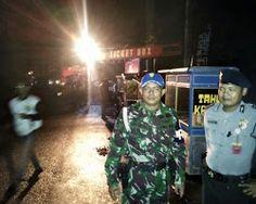 Personil Polsek Pataruman ( Polda Jabar ) Dan TNI Menjaga Kegiatan Konser Musik