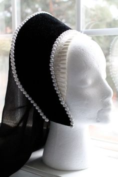 Anne Boleyn replica French Hood  Made to Order by FyneFaire, $49.99