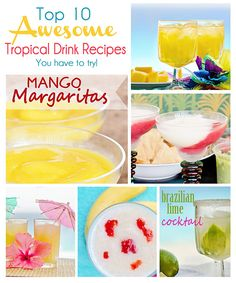 Scattered Thoughts of a Crafty Mom: Top 10 Awesome Tropical Drink Recipes you have to try!