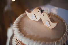 wooden bird cake toppers