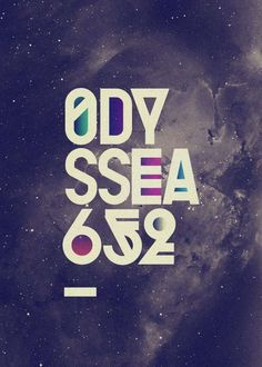 Sci-Fi Typography Prints - The Recently Released Odyssea 2010 Font by Playful (GALLERY)