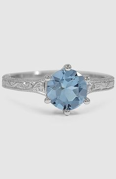 Sapphire Hudson Ring in white gold