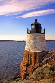 Castle Hill #Lighthouse, Newport, Rhode Island, USA ♠ re-pinned by http://www.waterfront-properties.com/