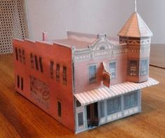 Free printable ho scale model Coffee Shop
