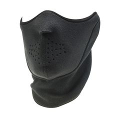 Our half mask comes in one black color and is made of warm neo fleece fabric material.
