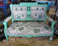 redone Aesthetic Movement settee at the Re-Purpose booth, Country Living Fair, Rhinebeck, NY