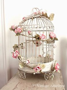 Birdcage and Roses from Vintage Amethyst