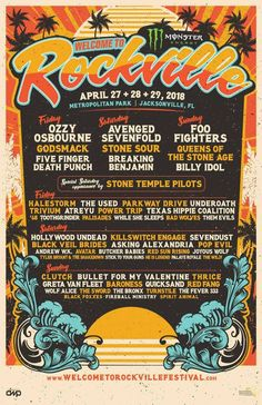 Welcome to Rockville 2018 lineup Jacksonville, FL