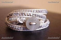 UPDATE : To see the new multi-row beaded leather bracelet video tutorial, click here .        This is my VERY first video tutorial so plea...