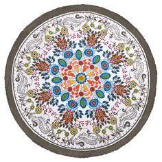 c4bcba81082f Ethnic indian table cloth round yoga mat Beach Towel 3.00  Picnic Mat